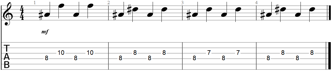 Arpeggiated Chord Progressioin Root plus Interval