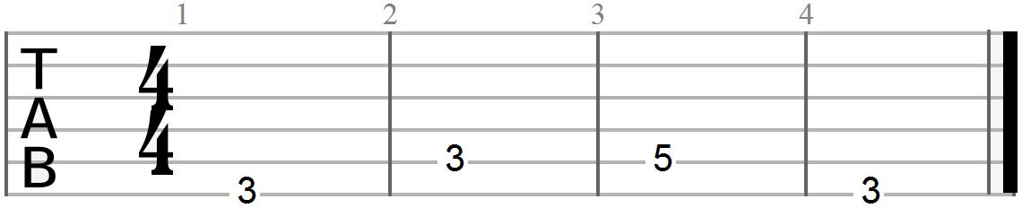 Chord Progression (G, C and D Bass Scale)