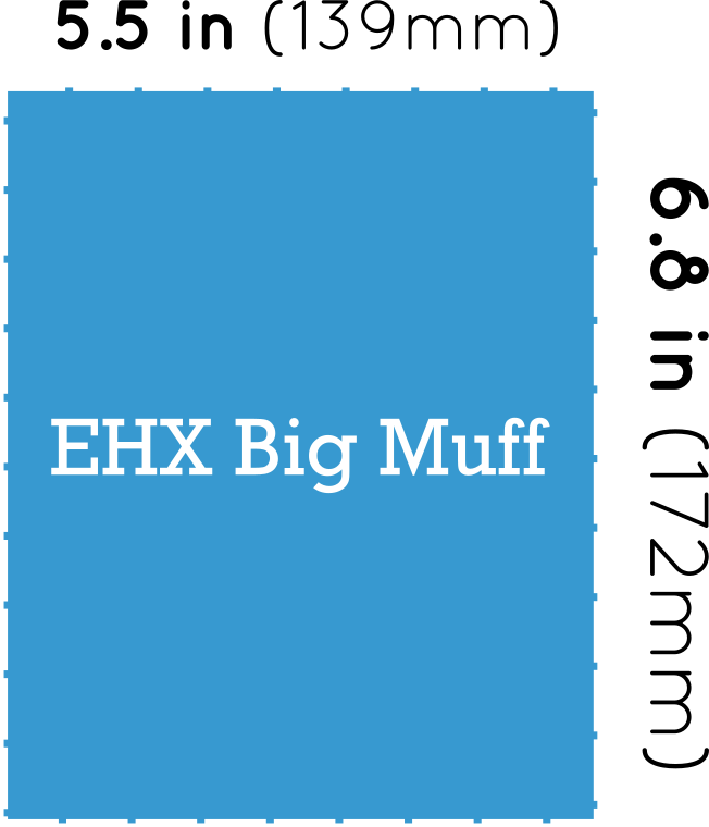 EHX Big Muff Distortion Dimensions
