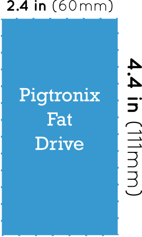 Pigtronix Fat Drive Dimensions