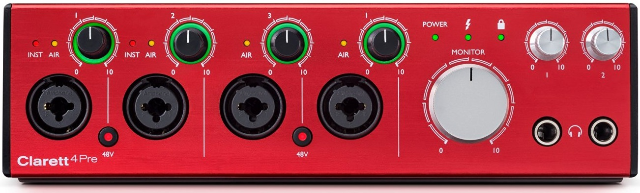 Thunderbolt Audio Interface Focusrite Clarett