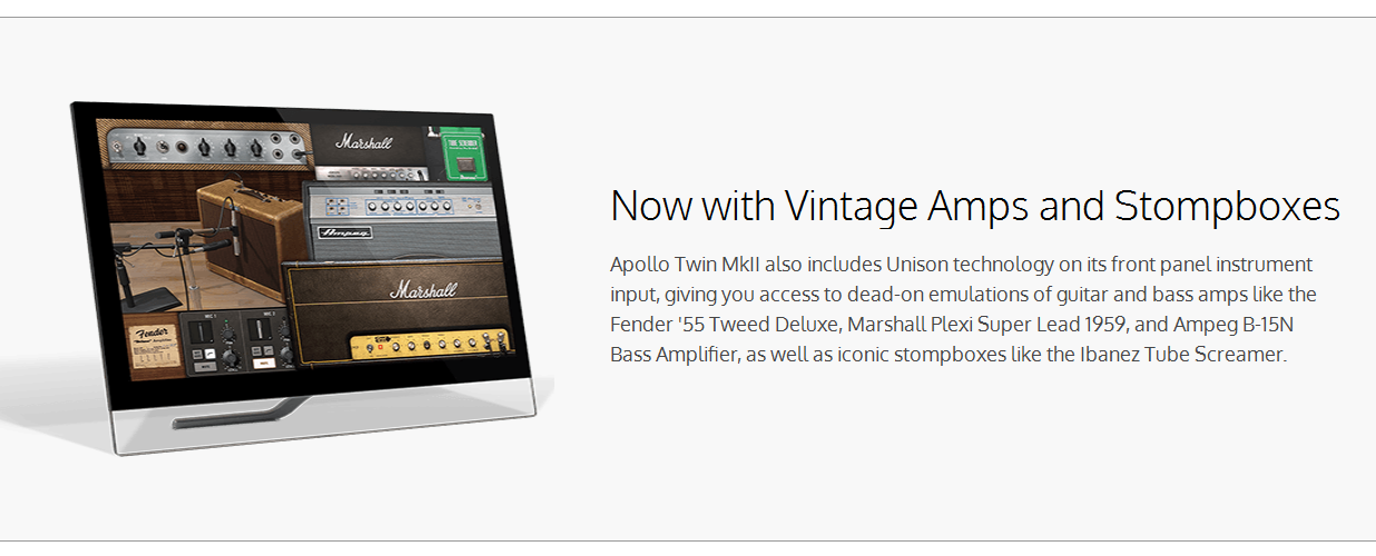 Universal Audio Apollo Twin MKII Interface Unison Feature