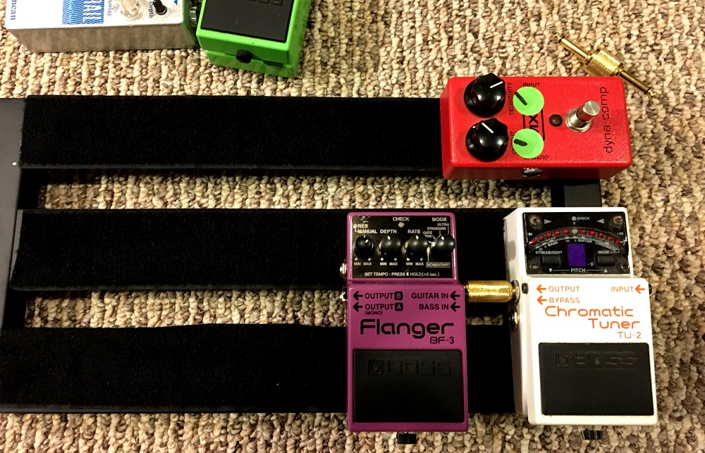 Boss-BF-3-Flanger-Pedal-on-my-small-pedalboard