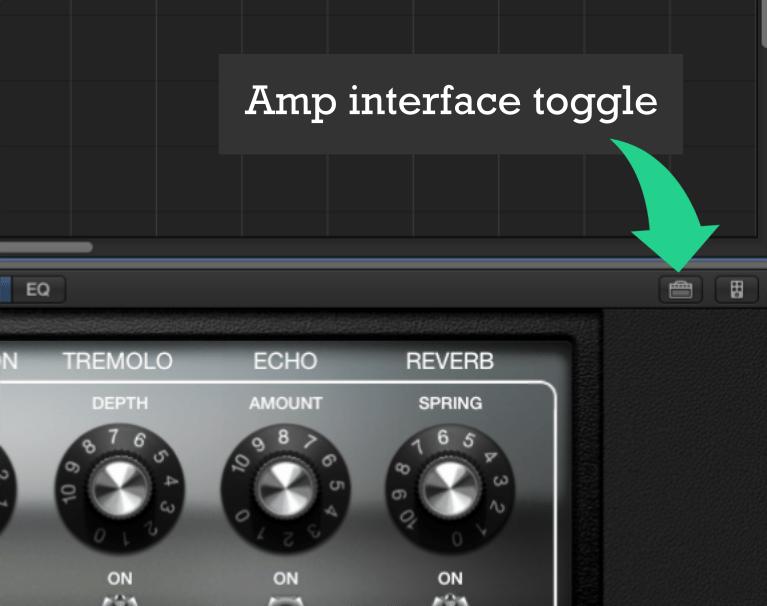 Garageband Amp Interface Toggle