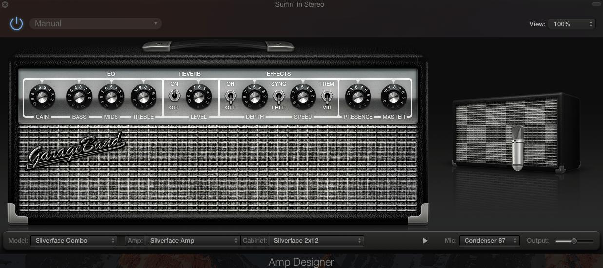 Garageband Screenshot Amp Modeler