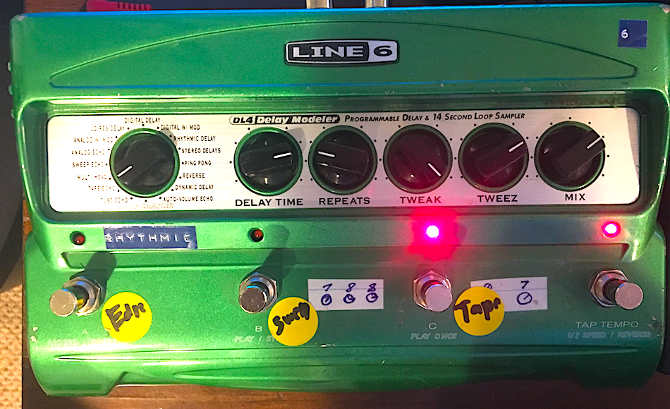 Line DL4 Delay used with Boss BF-3 Flanger