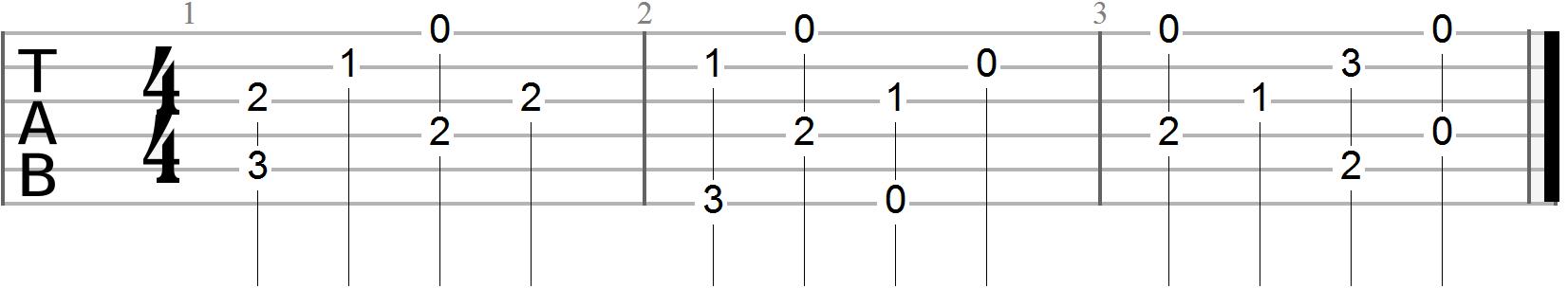 Ragtime Blues Alternating Bass Line