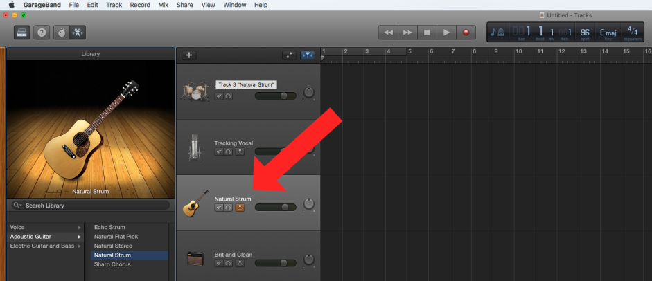 Acoustic Guitar in GarageBand