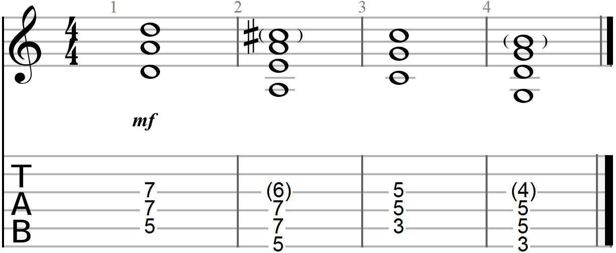 Chord Progression Example