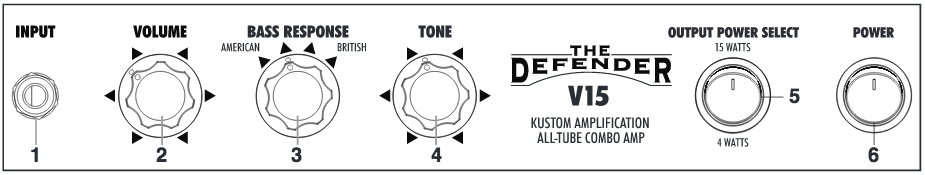Defender V15 Tube Amp Manual Screenshot