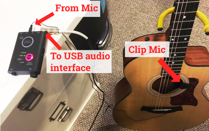 iRig Acoustic Stage Setup