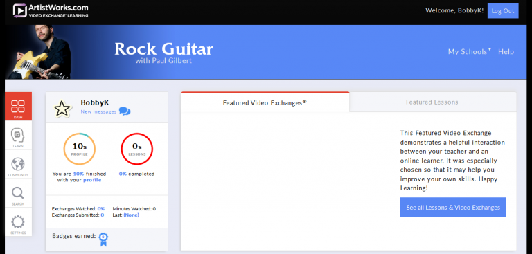 ArtistWorks Review Image for Online Guitar Lessons Roundup