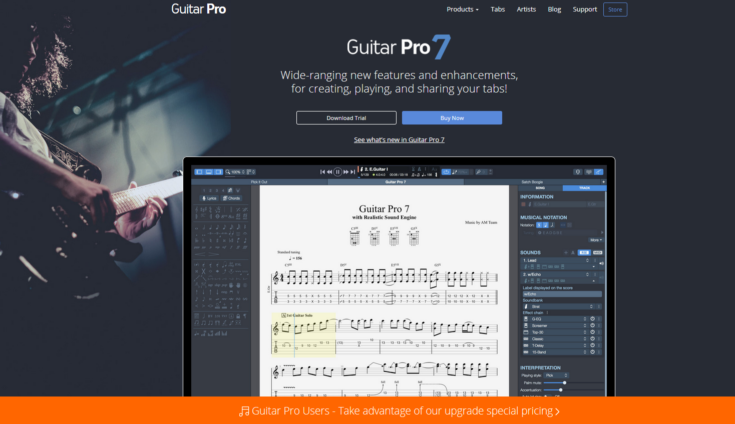 Guitar Pro 7 Home Page
