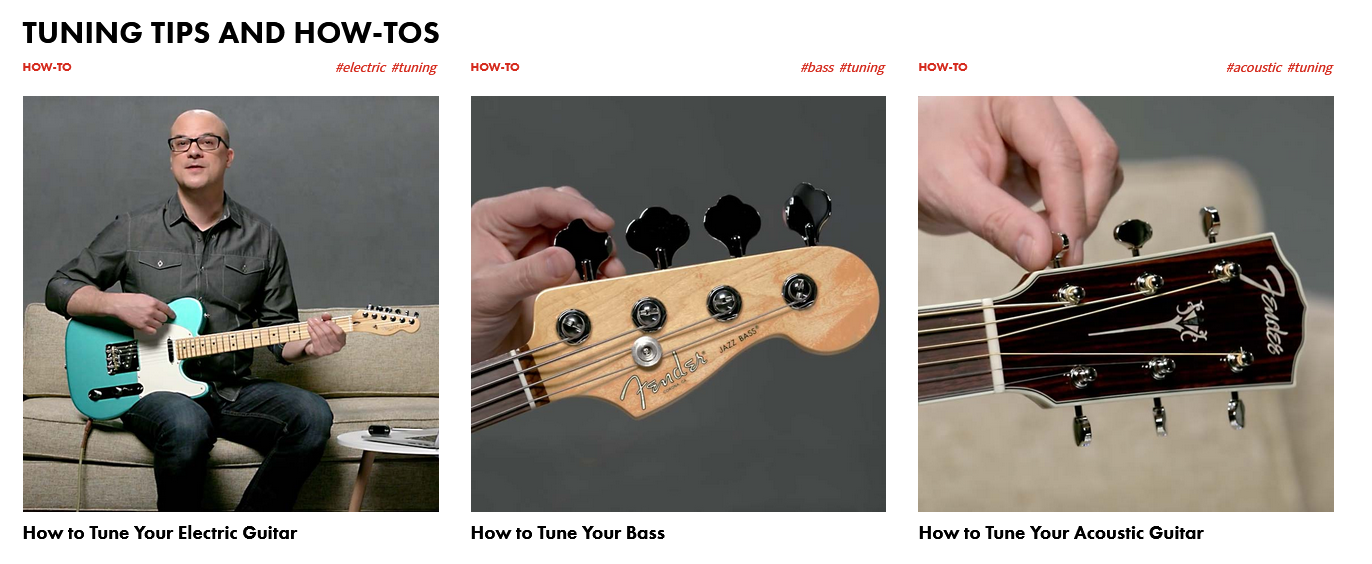 How to Tune you Guitar Online Graphic from Fender