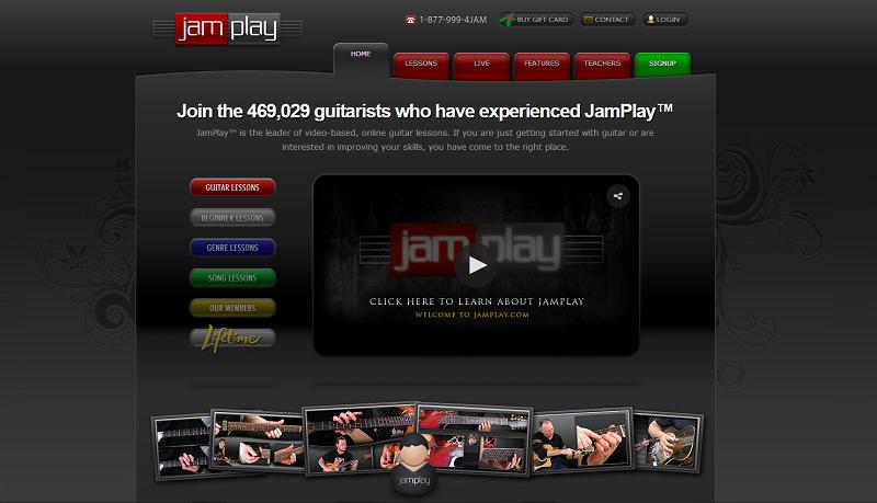 JamPlay Homepage Screengrab