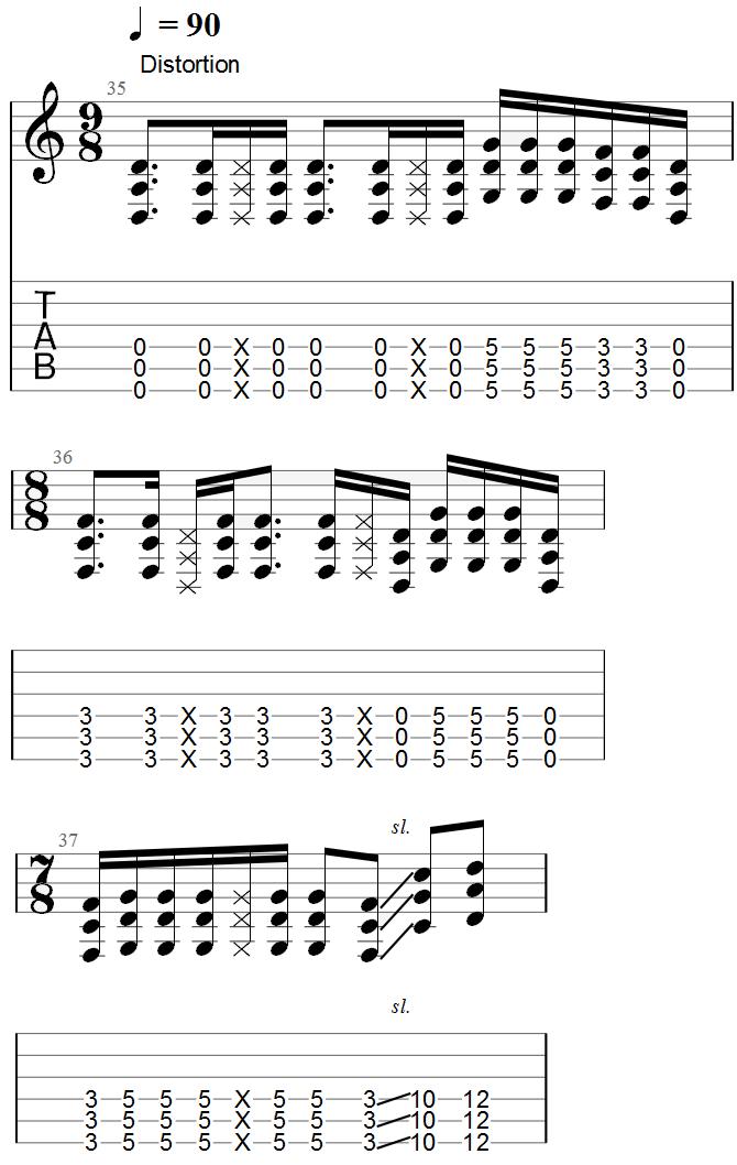 Tool Lateralus Chorus Guitar Tab
