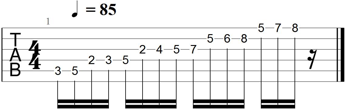 Classical Guitar Tabs (C Major - Andante)
