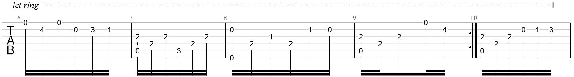 Classical Guitar Tabs - Fur Elise - 2