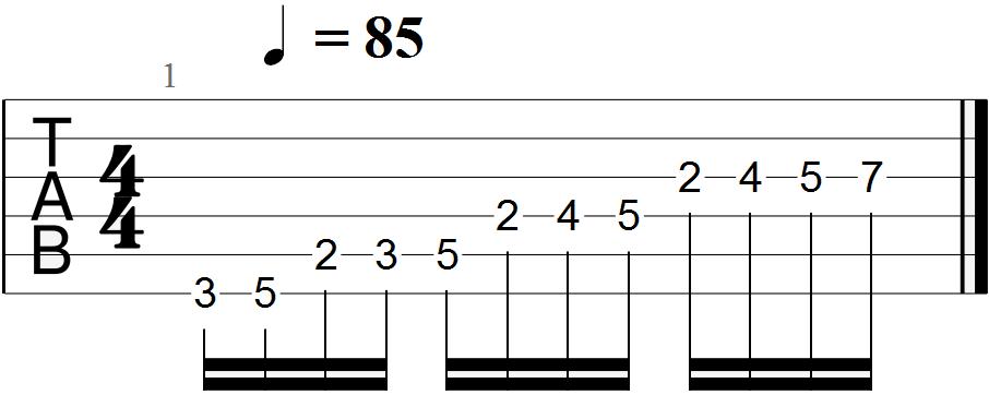 Classical Guitar Tabs (G Major - Andante)