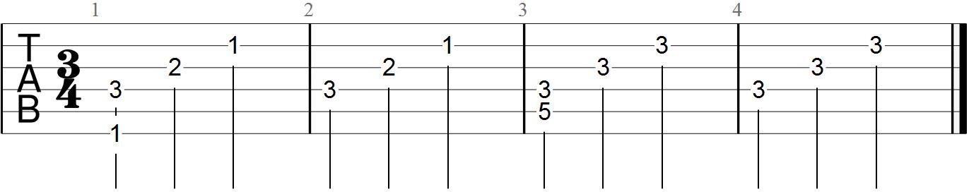 Classical Guitar Tabs (Moonlight Sonata - 3)