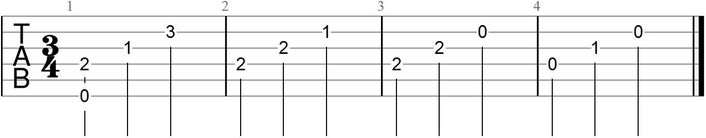 Classical Guitar Tabs (Moonlight Sonata - 4)