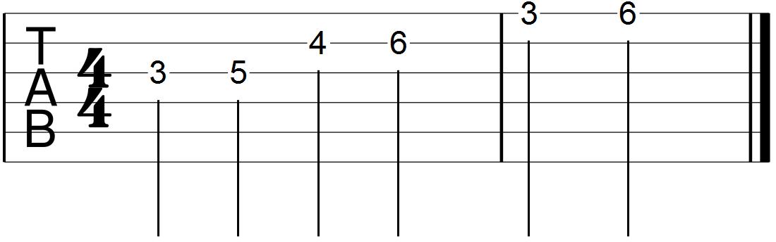 Minor Pentatonic Scale Segment