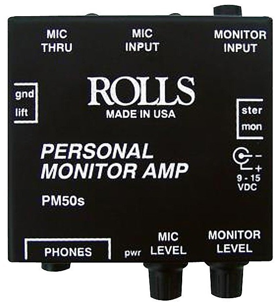 Rolls Personal Amplifier for In-Ear Monitoring in a Portable PA System