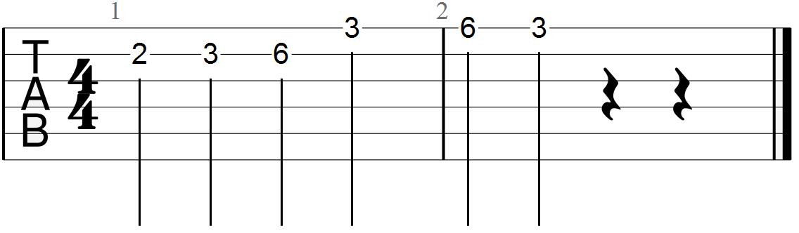 Segment of the Blues Pentatonic Scale