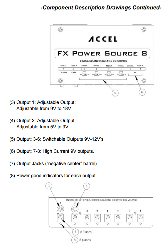 Accel Input Description from Manual