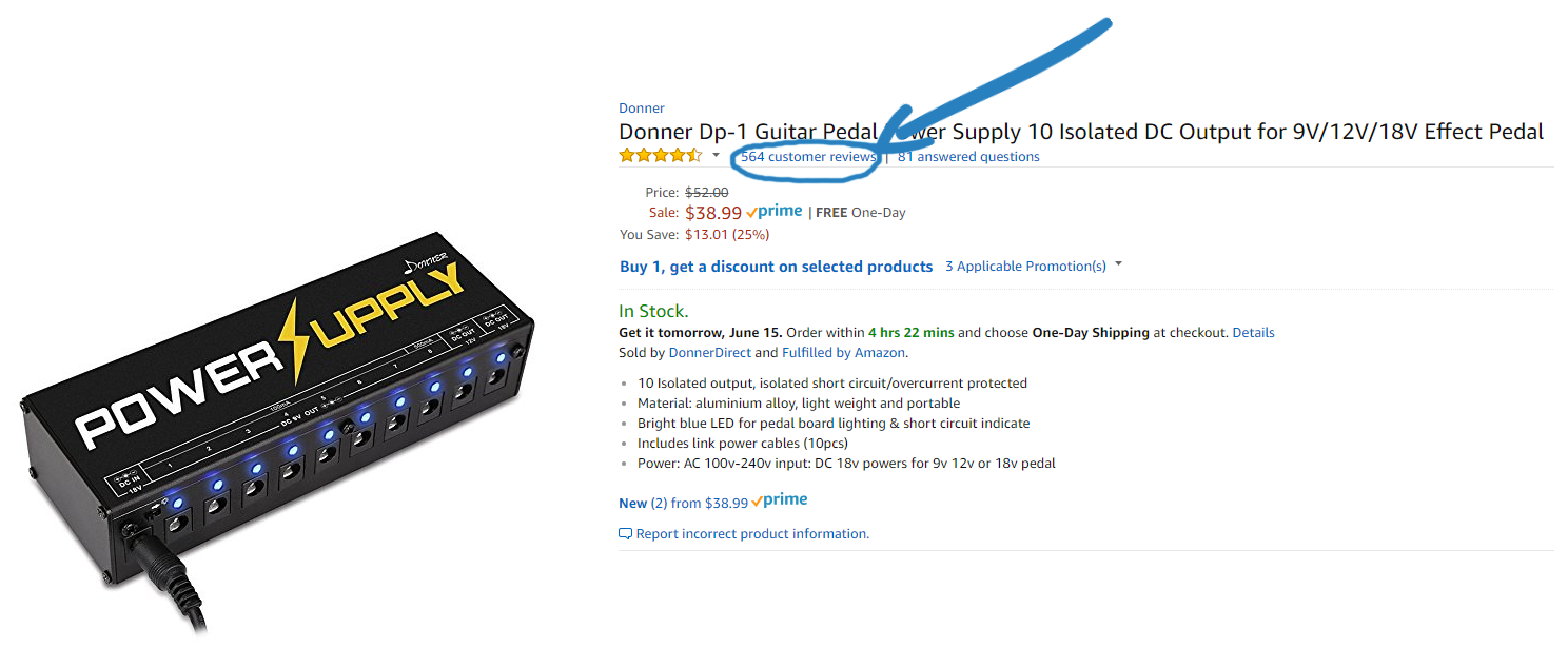 Donner DP-1 Power Supply