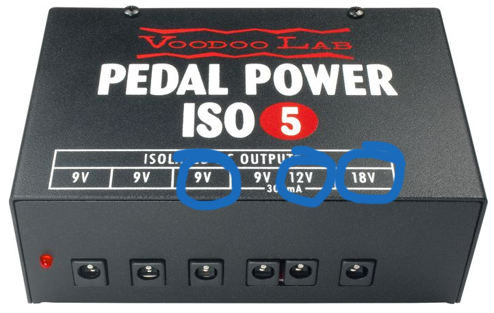 Voodoo Lab Pedalboard Power Supply ISO 5