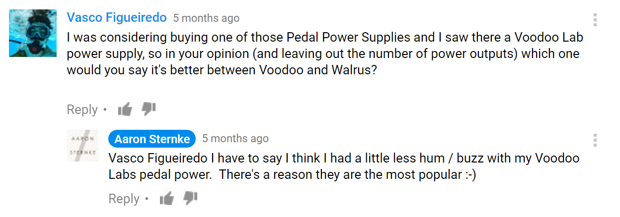 YouTube Question on the Walrus Audio Phoenix 15