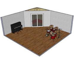 Corner Recording Booth
