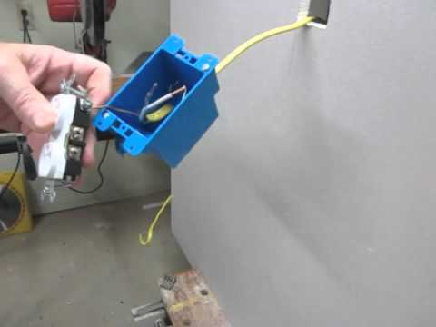 Electrical Outlet with Yellow Romex
