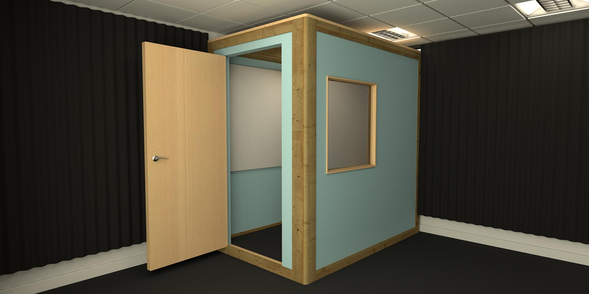 Traditional Square Recording Booth