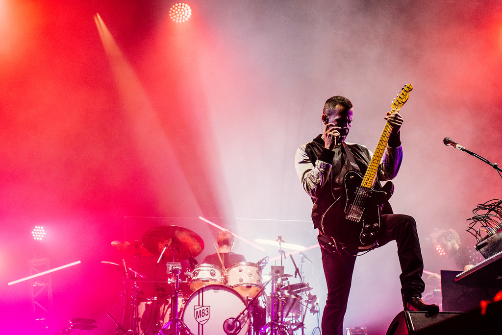 M83 Guitar Player and Telecaster Live Shot
