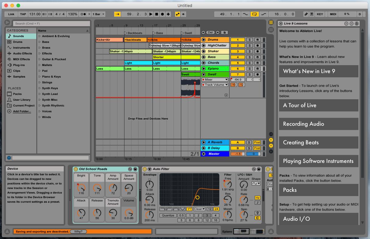 Ableton Live 9 Lite Screenshot