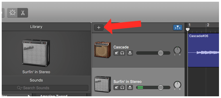 Adding Additional Tracks in GarageBand 10