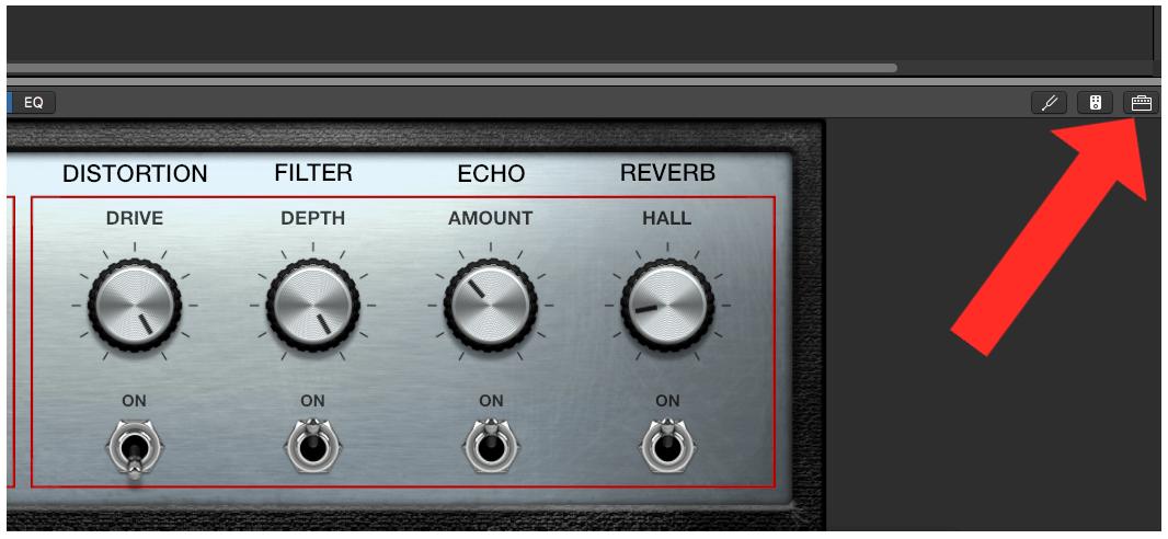 Amplifier Button in GarageBand
