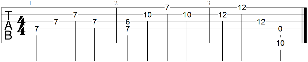 D Major Triad Improv (3 bars)