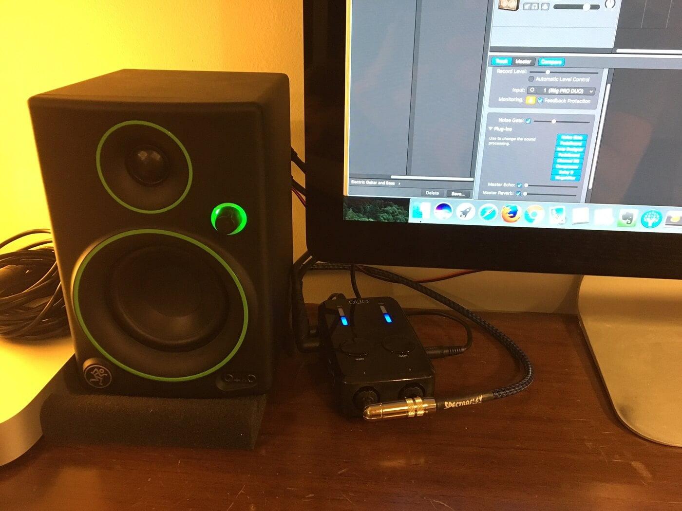 GarageBand with Guitar Amp Setup