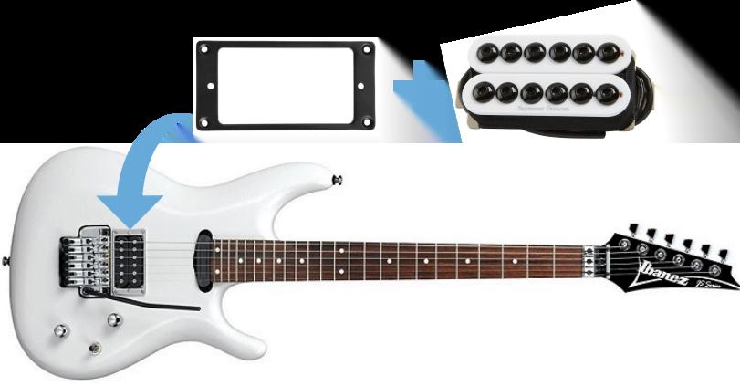 Ibanez Joe Satriani Electric Guitar Build (bridge pickup two)