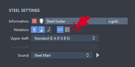 Notation Settings in Guitar Pro 7