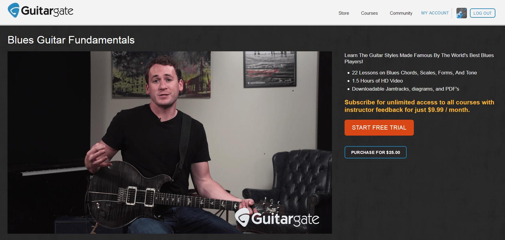 Blues Guitar Fundamentals Screenshot