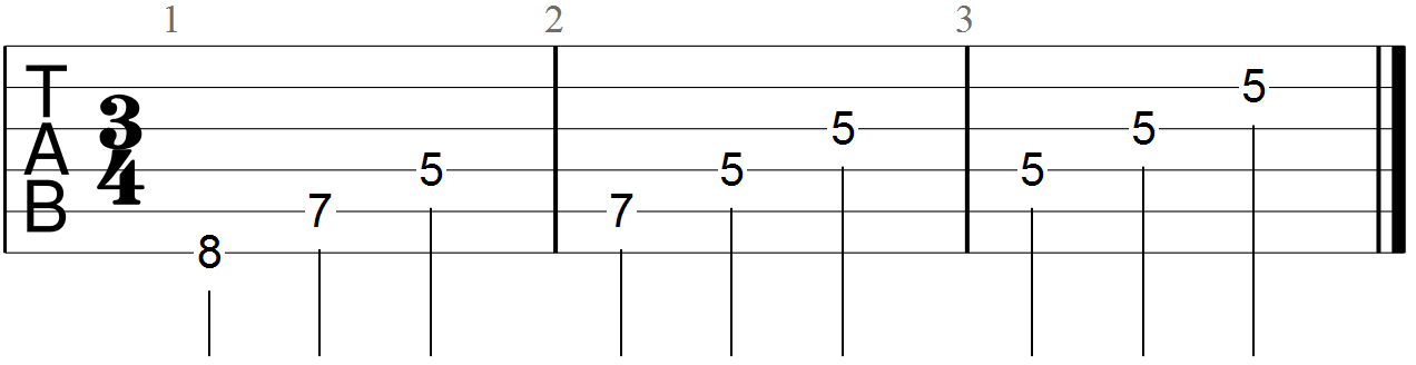 C Major Triad (8th fret root position)