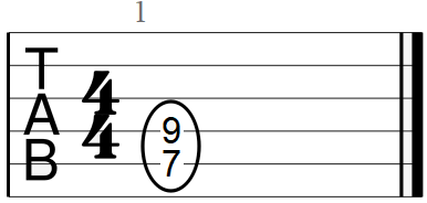 E Chord at the Seventh Fret Position