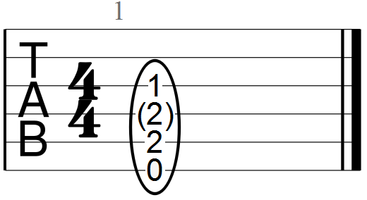 E Chord with Root, Fifth and Major Third