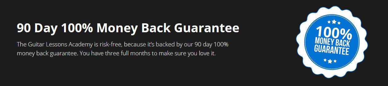 Guitar Academy Money Back Guarantee