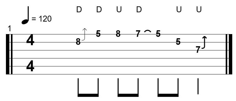 Second Example of a Difficult Guitar Tab