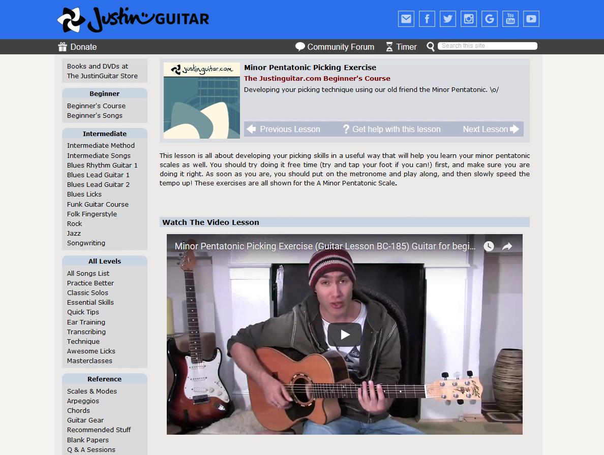 Justin Sandercoe Video Page